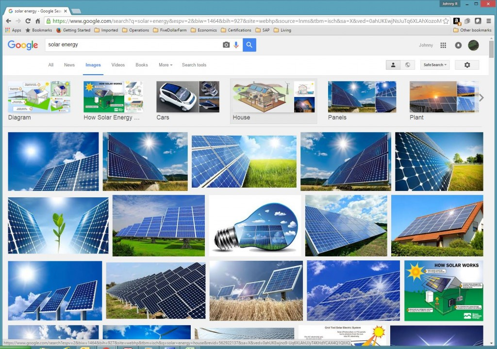 When searching Google Images these images show the major misconception of solar energy.