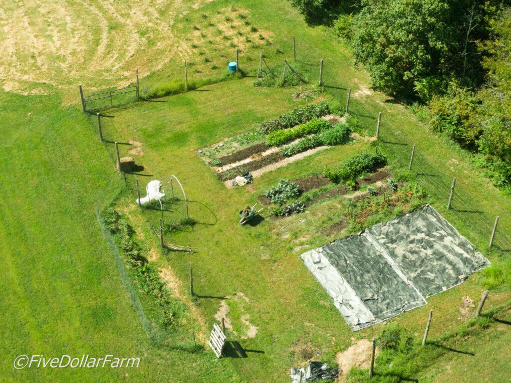 View of garden beds.